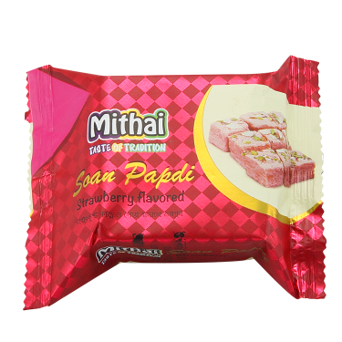 Mithai Soan Papri Strawberry Flavored (small pack)